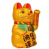 Ornements de main en céramique de chat chanceux ouverts Lucky Cat magasins d'ouverture de magasin ouverture cadeau décoratif d'ameublement