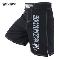Wtuvive Noir Mens Mma Short de boxe Muay Thai Shorts Lutte Sanda Fight Wear Mixed Martial Arts Cheap Kickboxing Tiger Muay Thai