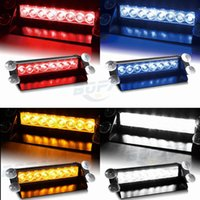 Vechicle del coche Led luz de advertencia del flash del estroboscópico de la emergencia 12V 8 luces intermitentes llevadas rojo azul blanco verde