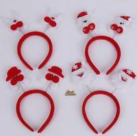 Dhl veya ems tarafından 500 adet Çocuk giyinmek Noel süslemeleri Çocuk tüy çan boynuzları kafa bandı saç bantları