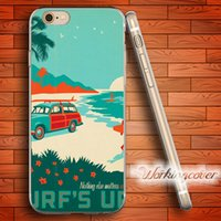 Capa Surfs Up Poster Soft Clear TPU Case for iPhone 6 6S 7 P...