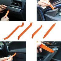 4 pçs / set DIY veículo portátil carro automático porta porta clipe de placa de áudio / dvr gps refitação de refeição ferramentas de remoção de remoção conjunto kit pry recolocando ferramenta de reparação