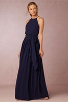 Long Navy Blue Bridesmaid Dresses BHLDN 2016 Chiffon Summer ...