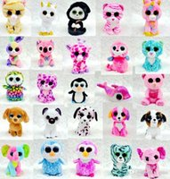 Ty Beanie Boos Plush Stuffed Toys Big Eye Animals Soft Dolls...