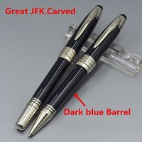 Great John Kennedy Dark blue Resin and metal ballpoint pen w...