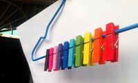 1000 Peça Mini De Madeira Clothespins Pinos de Roupas de 10 Cores, 3.5 * 0.7 cm Madeira Natural Primavera Clip Pegs Papel Foto Rápido Frete Grátis