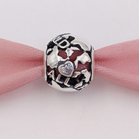 Authentic 925 Sterling Silver Beads Around The World Charm Charms Fits European Pandora Style Jewelry Bracelets & Necklace 791718CZ