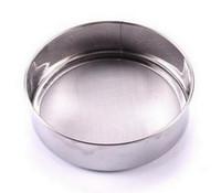10 unids / lote, diámetro 12 cm harina de polvo de malla de pantalla de malla de acero inoxidable en polvo.
