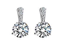 Orecchini in argento sterling 925 per orecchini donna Orecchini Fasihon Orecchini con diamante in CZ Stile neutro N43