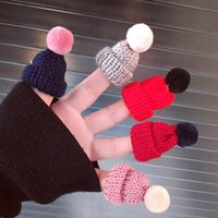 Wholesale- New 2PC Set 11 Colors Lovely Pompon Mini Wool Hat...
