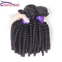 Лучшие Продажи 3 Пучки Афро Кудрявый Вьющиеся Волосы Ткать Сырье Необработанные Перуанские Упругие Вьющиеся Человеческие Волосы Расширения