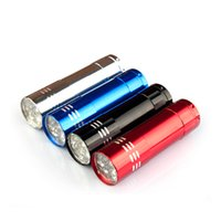 Aluminum Alloy Portable UV Flashlight 9 LED Torch Light Lamp...