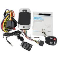 303G Veicolo GPS Tracker 303F Quad Band Realtime GSM GPS GPRS Dispositivi di monitoraggio 303G Sistema di allarme di sicurezza per auto Sistema di allarme gratuito