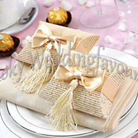 Free Shipping 100PCS Ivory Pillow Favor Boxes Wedding Favors...