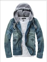Fashion Men Denim Jackets Winter Long Sleeve With Removable ...