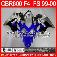 8Hediyelik 23Colors Bodywork Için HONDA CBR600 F4 1999 2000 CBR 600F4 ÜST kırmızı mavi 30NO57 CBR600F4 99 00 CBR 600 F4 99-00 CBR600FS FS Fairing Kiti