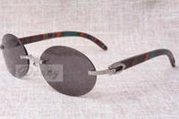 Nouvelle mode ronde Confort rétro Lunettes de soleil Diamond T8100903 Couleur naturelle Couleur Miroir Sunglasses Meilleure qualité Eyewear Taille: 58-18-135