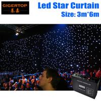 Freeshipping 3M * 6M LED Star Curtain RGBW 240 sztuk LED Color Curtain DJ Spódnica DJ Booth DMX Controller Control / Auto / Tryb dźwięku Flam Dostosowywanie