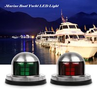 1 Pair Stainless Steel 12V LED Bow Navigation Light Red Gree...