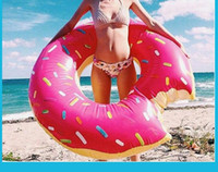 120cm floating Donut Schwimmring 48 Zoll Gigantic Donut Schwimmen Schwimmer aufblasbare Schwimmen Ring Adult Pool Floats