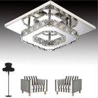 Modern LED Crystal Ceiling Light 12W Fixture Square Surface ...