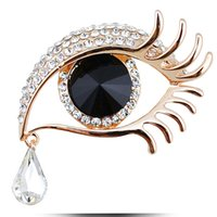Wholesale- Elegant Women Rhinestone Crystal Big Eye Brooches...