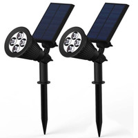 2PCS 1. 5W Solar Powered Security Spotlight Motion activated ...