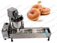 Коммерческий полный автоматический пончик-машина 110V 220 3000 Вт из нержавеющей стали пончик Maker поставляется с 3 пресс-форм