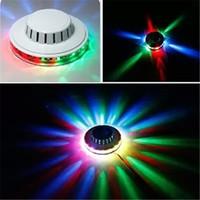 Удивительные мини-НЛО портативный лазерные сценические огни подсолнечника RGB led освещение настенный светильник для KTV DJ Party свадьба США / ЕС Plug эффект света