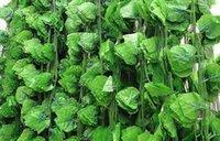 24 pcs / parti 6,8 fot Wired Ivy Garland Silk Artificial Vine Greenery för Wedding Home Office