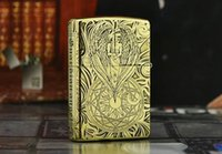Wholesale- Free shipping lighters Five new pure copper surfa...