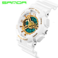 2019 New Brand SANDA Watches Mens LED Digital- watch G Style ...
