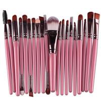 Professional 20pcs Makeup Щетки набор косметические лица для теней для теней для теней инструменты инструменты для макияжа комплект для бритья губа быстрая DHL доставка