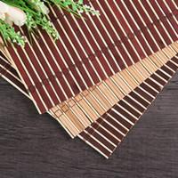 Doğal bambu fotoğrafçılık backdrop 30 * 40 cm bambu dokuma mat arkaplan takı kozmetik çekim için 3 renkler kahve kırmızı-ahşap doğal