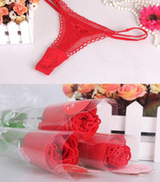 Valentine' s day Gift Panty Rose underclothes women unde...