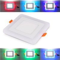 4 Colors 3 Mode 6w 9w 16w 24w led Ceiling Recessed panel Lig...