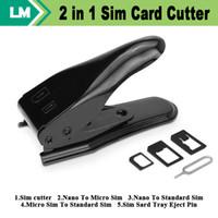 2 in 1 Nano-Mikro-SIM-Kartenschneider für iPhone7 6 plus 5 4s 4 für Samsung S6 für Handy-Upgrade Dual-Use-frei DHL 20sets / lot