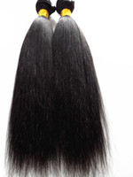 brazilian light yaki hair weft human virgin remy hair extens...