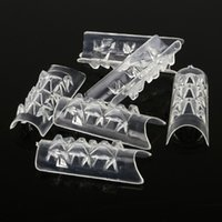 Brand New 100pcs / lot 10 Size Clear Glass Tips Mosaico Unghie finte suggerimenti Strumenti Nail Art