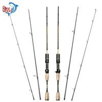 Fibra de Carbono Baitcasting Pesca Rod 1.8m Spinning Pesca ROSEWOOD Super Light Lure Peso 0.8-5g Rod Ultra Luz