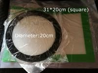 Silikon balmumu pedleri kuru ot paspaslar büyük 20 cm yuvarlak veya 31 * 20 cm kare pişirme mat dabber levhalar kavanozlar dab aracı için silikon konteyner buhar