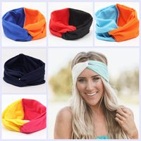 19 cores Sólido Twist Sport Moda Yoga Stretch Headbands Mulheres Turban Bandana Head Wrap Hair Accessories 1000 PCS YYA202