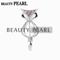 5 Pieces Fox Cage Locket Love Wish Pearl Gift 925 Sterling S...