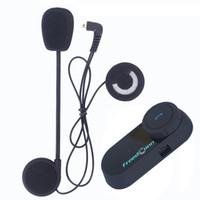 FreedConn 1 шт. BT Bluetooth Мотоциклетный шлем Домофон Система беспроводной интернации 800M 2 Riders Intercom гарнитура с FM-радио