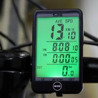 Горячие Продажи SD-576A Водонепроницаемый Авто Велосипед Компьютер Свет Режим Сенсорный Проводной Велосипедный Компьютер Велоспорт Спидометр с ЖК-Подсветкой