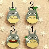 Totoro Çocuklar Broş 2017 Yeni Sevimli Karikatür Ahşap Çocuk Pin Broş çocuk kırtasiye Erkek Kız Aksesuarları C134