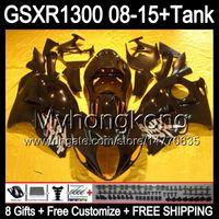 nero lucido 8 Regali per SUZUKI Hayabusa GSXR1300 08 15 GSXR-1300 14MY65 GSXR 1300 GSX R1300 08 09 10 11 12 13 14 15 nero lucido Kit Carena