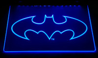 LS2840-b Heroe Batman Cueva Del Hombre muestra Light Sign Decor Dropshipping Dropshipping Wholesale 6 colori da scegliere