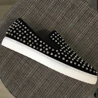New 2017 Mens Womens Rhinestone Sliver Spikes Loafers Brand ...