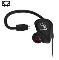 KZ ZS3 인체 공학적 분리형 케이블 이어폰 (이어폰 오디오 모니터) 소음 차단 HiFi 음악 스포츠 이어 버드 (마이크 포함)